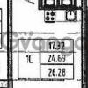 Продается квартира 1-ком 26 м² Петровский бульвар 2, метро Девяткино