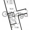 Продается квартира 1-ком 51.21 м² Ушаковская набережная 3, метро Черная речка