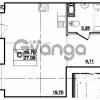 Продается квартира 1-ком 27 м² Центральная улица 83, метро Ладожская