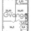 Продается квартира 1-ком 60.4 м² Кременчугская улица 9к 1, метро Площадь Восстания