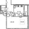 Продается квартира 1-ком 55.8 м² Кременчугская улица 9к 1, метро Площадь Восстания