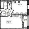 Продается квартира 1-ком 42.2 м² Кременчугская улица 9к 1, метро Площадь Восстания