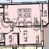 Продается квартира 1-ком 44 м² Петровский бульвар 2, метро Девяткино