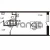 Продается квартира 1-ком 24.14 м² улица Пионерстроя 29, метро Проспект Ветеранов
