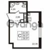 Продается квартира 1-ком 29.56 м² улица Пионерстроя 29, метро Проспект Ветеранов