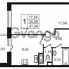 Продается квартира 1-ком 35.59 м² улица Пионерстроя 29, метро Проспект Ветеранов