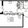 Продается квартира 1-ком 38.25 м² улица Пионерстроя 29, метро Проспект Ветеранов