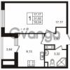 Продается квартира 1-ком 33.24 м² улица Пионерстроя 29, метро Проспект Ветеранов