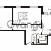 Продается квартира 2-ком 61.69 м² улица Пионерстроя 29, метро Проспект Ветеранов