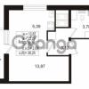 Продается квартира 1-ком 26.16 м² Воронцовский бульвар 2, метро Девяткино