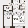 Продается квартира 1-ком 49.8 м² проспект КИМа 19Д, метро Приморская