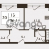 Продается квартира 1-ком 36.4 м² проспект КИМа 19Д, метро Приморская