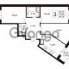Продается квартира 3-ком 78 м² Воронцовский бульвар 4, метро Девяткино