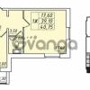 Продается квартира 1-ком 39.1 м² улица Николая Рубцова 1, метро Ладожская