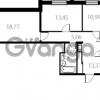 Продается квартира 2-ком 69 м² улица Катерников 1, метро Проспект Ветеранов