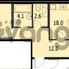 Продается квартира 1-ком 50.3 м² улица Адмирала Коновалова 2, метро Автово