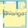Продается квартира 1-ком 39 м² Валдайская улица 11, метро Купчино