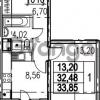 Продается квартира 1-ком 33.85 м² Парашютная улица 54, метро Комендантский проспект