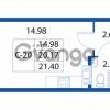 Продается квартира 1-ком 20.17 м² улица Шувалова 1, метро Девяткино
