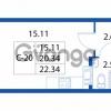 Продается квартира 1-ком 20.34 м² улица Шувалова 1, метро Девяткино