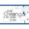Продается квартира 1-ком 20.84 м² улица Шувалова 1, метро Девяткино