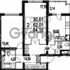 Продается квартира 2-ком 64.15 м² Парашютная улица 54, метро Комендантский проспект
