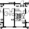 Продается квартира 3-ком 71.91 м² Парашютная улица 54, метро Комендантский проспект