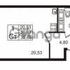 Продается квартира 1-ком 28 м² проспект Строителей 2, метро Улица Дыбенко