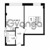 Продается квартира 1-ком 40.97 м² Дальневосточный проспект 40, метро Улица Дыбенко