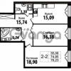 Продается квартира 2-ком 74.95 м² Кирочная улица 57, метро Чернышевская
