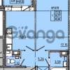 Продается квартира 1-ком 40 м² Камышинская улица 22к 2, метро Ладожская