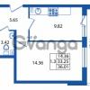 Продается квартира 1-ком 33 м² Охтинская аллея 2, метро Девяткино