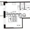 Продается квартира 1-ком 36 м² бульвар Менделеева 13, метро Девяткино