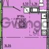 Продается квартира 1-ком 32 м² Камышинская улица 22к 2, метро Ладожская