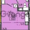 Продается квартира 1-ком 31 м² Камышинская улица 22к 2, метро Ладожская