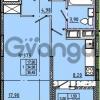 Продается квартира 1-ком 36 м² Камышинская улица 22к 2, метро Ладожская