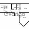 Продается квартира 2-ком 54.52 м² улица Шувалова 1, метро Девяткино