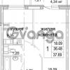 Продается квартира 1-ком 37 м² бульвар Менделеева 13, метро Девяткино