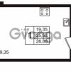 Продается квартира 1-ком 26.86 м² бульвар Менделеева 11, метро Девяткино