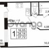 Продается квартира 1-ком 37.72 м² бульвар Менделеева 11, метро Девяткино