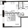 Продается квартира 1-ком 36.49 м² бульвар Менделеева 11, метро Девяткино
