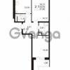 Продается квартира 2-ком 54 м² улица Адмирала Черокова 18к 3, метро Проспект Ветеранов