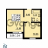 Продается квартира 1-ком 34.97 м² Ленинский проспект 69, метро Проспект Ветеранов
