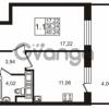 Продается квартира 1-ком 36.24 м² улица Катерников 1, метро Проспект Ветеранов