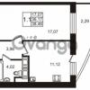 Продается квартира 1-ком 36.17 м² улица Катерников 1, метро Проспект Ветеранов
