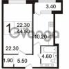 Продается квартира 1-ком 44.5 м² Пискаревский проспект 3, метро Площадь Ленина