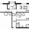 Продается квартира 3-ком 82.5 м² Пискаревский проспект 3, метро Площадь Ленина
