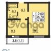 Продается квартира 1-ком 37 м² проспект Маршака 1, метро Гражданский проспект
