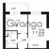 Продается квартира 1-ком 34 м² улица Катерников 1, метро Проспект Ветеранов