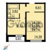 Продается квартира 1-ком 33 м² Парашютная улица 54, метро Комендантский проспект